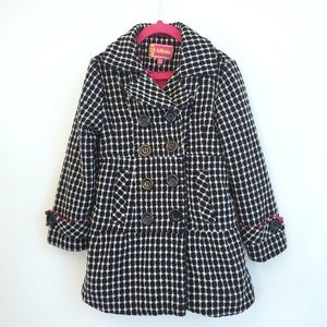 Dollhouse Black and White Tweed Pea Coat